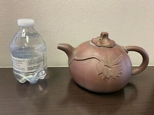 Beautiful Vintage Chinese Yixing Zisha Clay Teapot pumpkin shape.