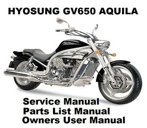 HYOSUNG GV650 AQUILA 650 Owners Workshop Service Repair