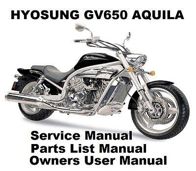 HYOSUNG GV650 AQUILA 650 Owners Workshop Service Repair