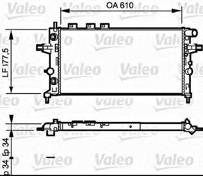 VALEO Engine Cooling Radiator Fits OPEL Astra Zafira Wagon