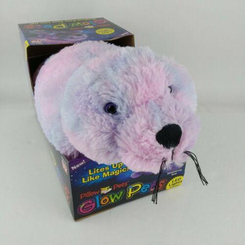 pillow pets glow pets shimmering seal purple pink led lights opens to 15 pillow other stuffed animals schi brettl werkstatt toys hobbies