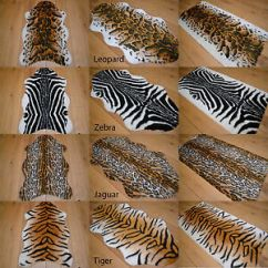 Sheepskin Rug On Chair Chippendale High African Soft Faux Fur Bedroom Fake Animal Skin Print Pattern Floor Rugs Mat | Ebay