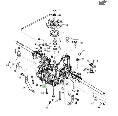 Genuine John Deere X126 Ride On Mower Transmission