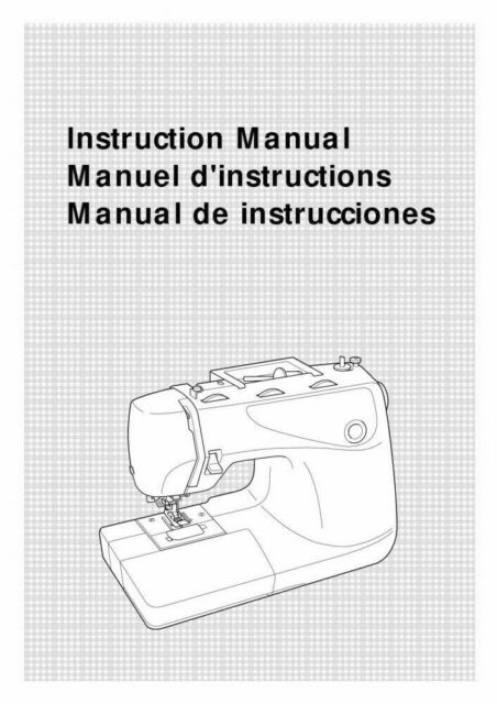 Brother XL-6452 Sewing Machine Owners Instruction Manual