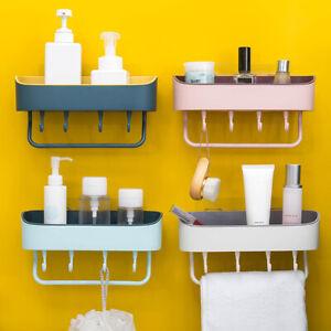 details sur porte serviettes etagere support mural salle de bain cuisine avec 4 crochets fr
