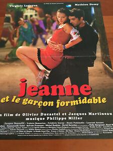 Jeanne Et Le Garçon Formidable : jeanne, garçon, formidable, Jeanne, Garçon, Formidable, Affiche, Cinéma, 60x40, French, Movie, Poster