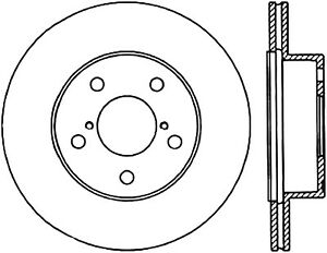 Disc Brake Rotor-WRX STI Rear Centric 121.47020 fits 2004
