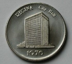 medal regina 1976 variety buildings letters hall canada date