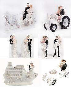 Figur Brautpaar Hochzeitsfigur Tortenfigur Kutsche