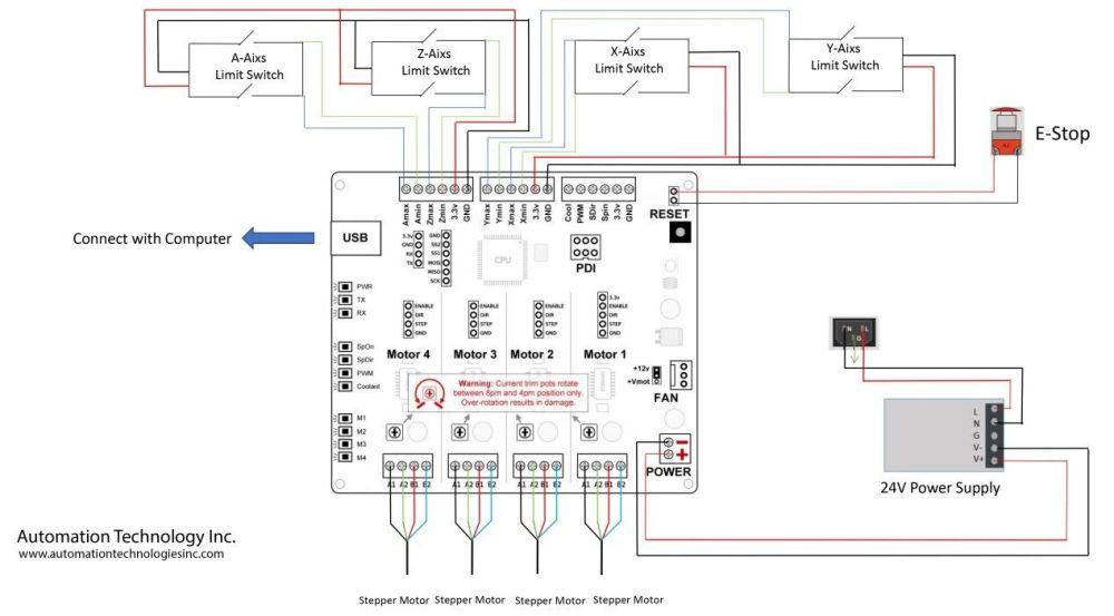 medium resolution of tinyg nema23 425 oz in 3 axis kit ebaynema 23 wiring diagram 21