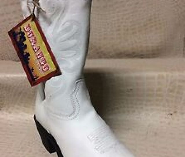 Image Is Loading Womens Durango Cowgirl Leather Ladies Fashion Western White