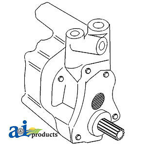 A-531607M93 Massey Ferguson Parts HYDRAULIC PUMP 20E , 30