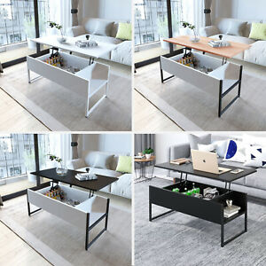 details about foldable coffee table dining table laptop office desk storage hydraulic gas lift