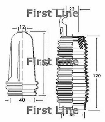 FSG3226 FIRST LINE STEERING GAITER KIT fits Citroen Saxo