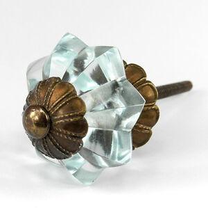 Glass Drawer Handles Unique Cabinet Pulls or Antique
