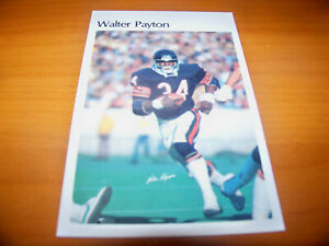 details about bears walter payton 1981 marketcom 5 5 x 8 5 mini poster 13 of 50