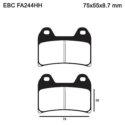 EBC FA244HH Replacement Brake Pads for Front Ducati 748