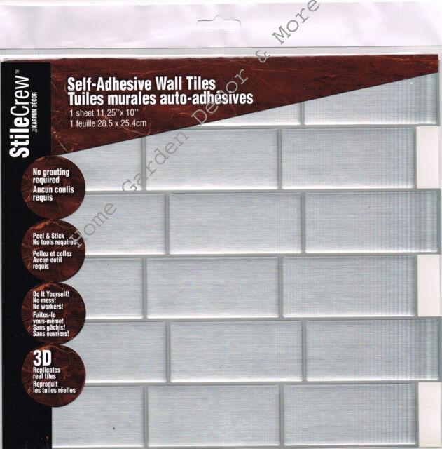 6 tiles peel and stick tile backsplash