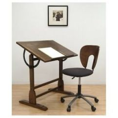 Drafting Table Chairs Folding Beach Lounge Chair Vintage Architect Drawing Desk Rustic Wood