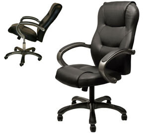 ergonomic office chair ebay hanging swing with stand sao paulo high back executive top grade black leatherette computer image is loading