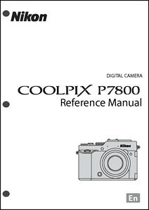 Nikon CoolPix P7800 REFERENCE Digital Camera User Guide