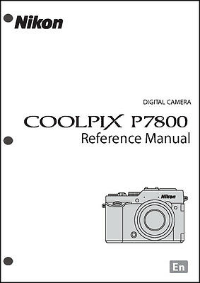 Nikon CoolPix P7800 REFERENCE Digital Camera User Guide