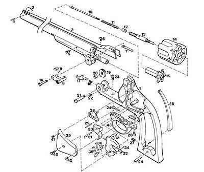 70 SMITH & WESSON REVOLVER EXPLODED Parts Diagram Auto