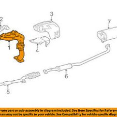 1999 Toyota Camry Exhaust System Diagram Cat Digestive Oem 97 99 Manifold 2505103040 Ebay Image Is Loading