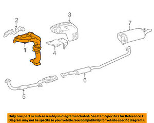 1999 toyota camry exhaust system diagram 2007 f150 trailer brake wiring oem 97 99 manifold 2505103040 ebay image is loading