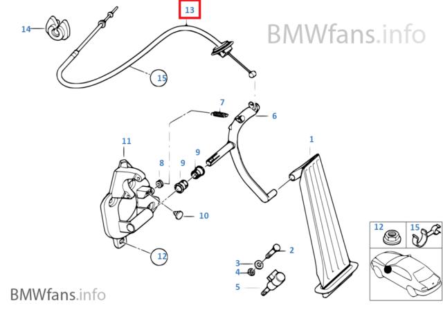 New BMW E46 316Ci M43 318i M43 Accelerator Cable