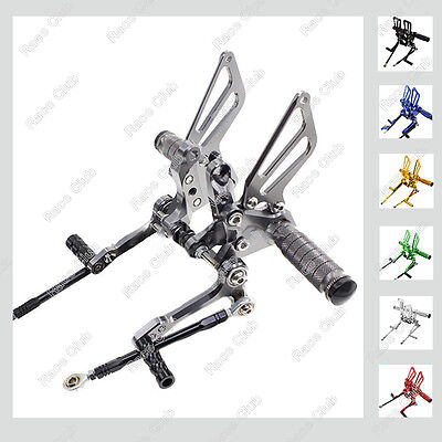Adjustable CNC Rearsets Footpeg Pedal Footrest For Ducati