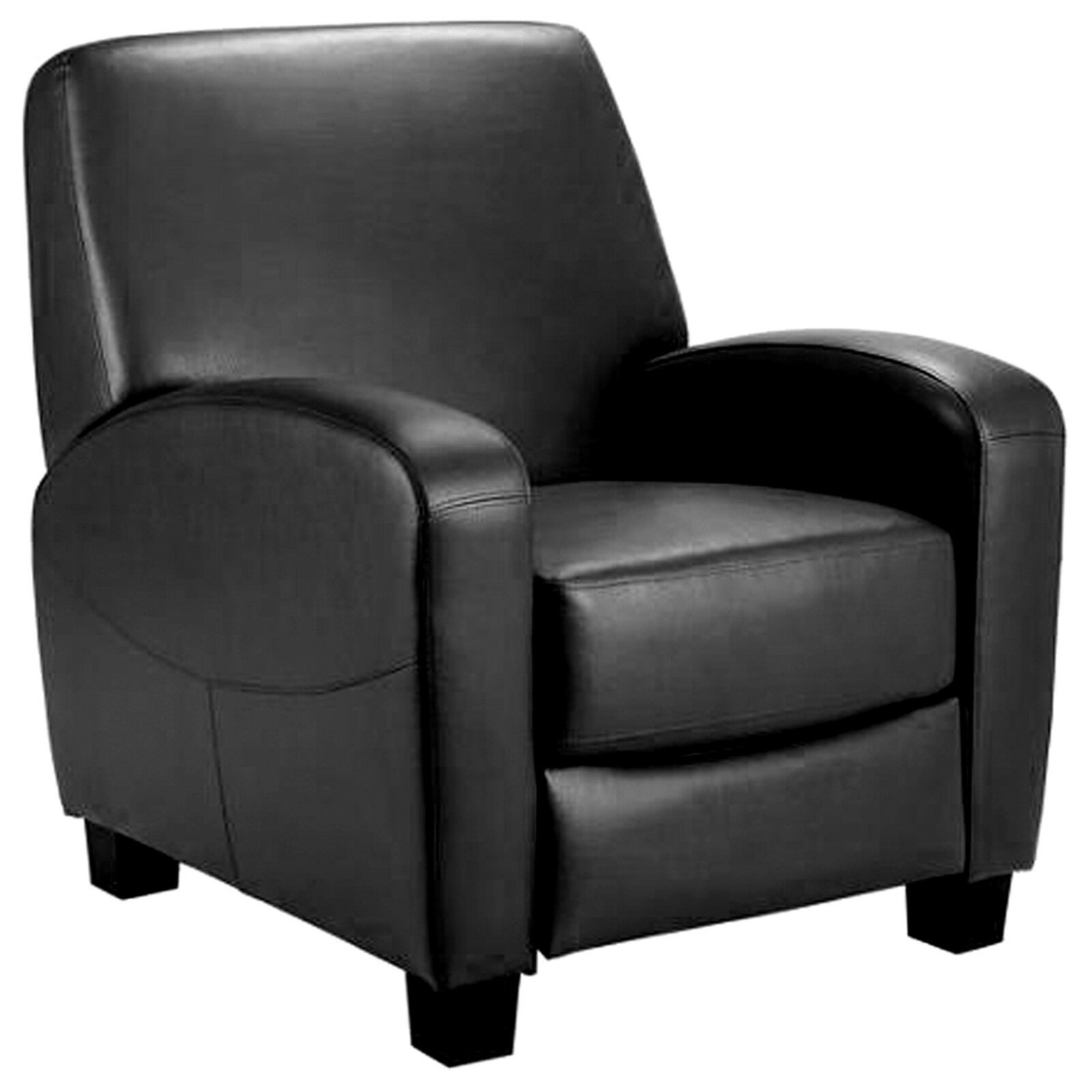 Movie Theater Chairs Home Theater Recliner Black Faux Leather Lounge Club Chair