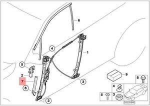 Genuine BMW E46 Compact Window Guide Rail Right OEM