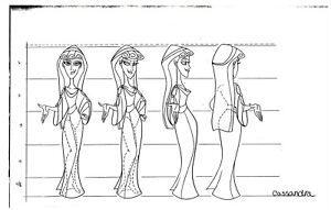 Disney HERCULES TV SERIES 1997 Production Studio Copy