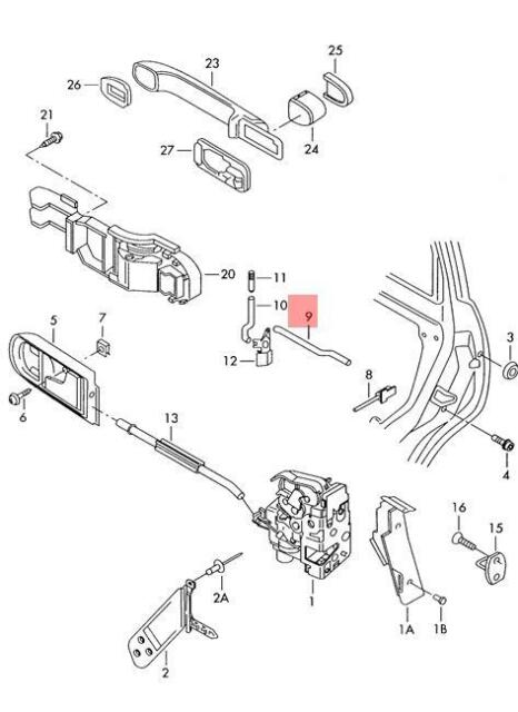 Genuine Locking Rod Left VW Bora Variant 4Motion Clasico