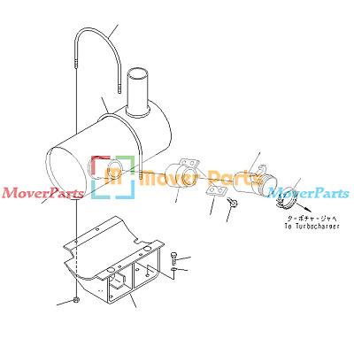 Muffler Silencer 20E-11-K1123 for Komatsu PC150-6K PC160
