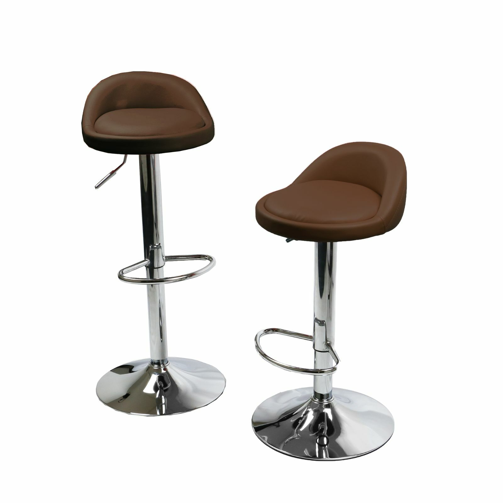 Metal Counter Height Chairs 1 Pair Leather Metal Bar Stools Swivel Dinning Counter