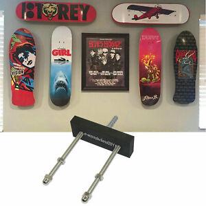 details about floating skateboard deck display wall mount holder rack horizontal or vertical