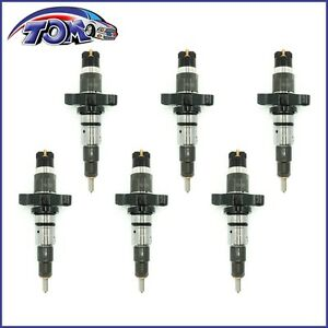 BRAND NEW SET OF 6 DIESEL FUEL INJECTOR FOR DODGE RAM 5.9L