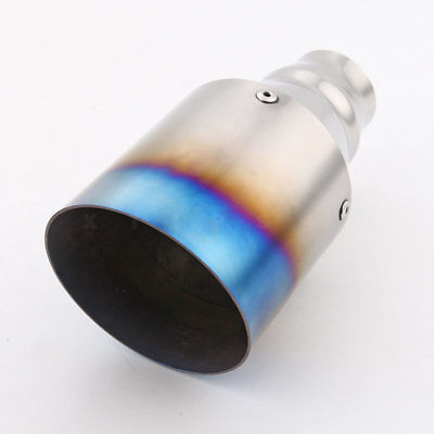 polished and burnt titanium stainless steel exhaust tip tailpipe 4 inch outlet ebay