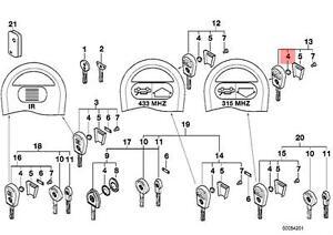 Genuine BMW E34 E36 E38 E39 E46 E52 E53 Ignition Key