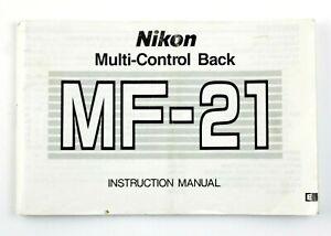 197025 Nikon Multi-Control Back MF-21 Original User