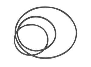 Kit 3 Courroies pour combiné DVD Magnetoscope Thomson