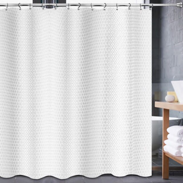 avalon 54 inch x 78 inch shower stall curtain in white