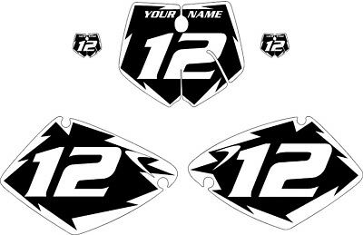 Fits 2001-2002 KTM 125-250 SX Pre-Printed Black