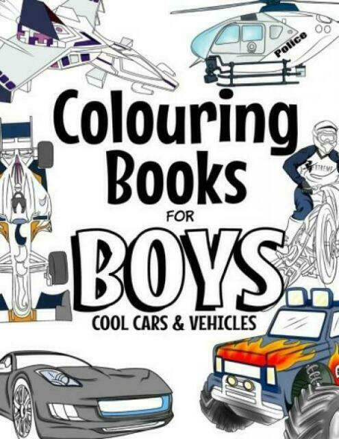 Adult Colouring Books For Boys Coloring Vehicles Cool Cars Bikes Trucks 64 Pages For Sale Online Ebay