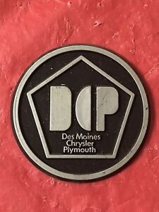 Chrysler Dealer Des Moines : chrysler, dealer, moines, Dealer, Plate, Emblem, MOINES, CHRYSLER, PLYMOUTH, 1970's
