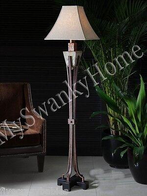 indoor outdoor tuscan stone floor lamp patio outside mediterranean designer luxe 707430488889 ebay