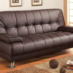 Coaster Futon Sofa Bed With Removable Armrests Review Bench Seat Storage Arm Rests Brown Vinyl Ebay New