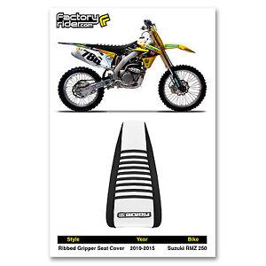 2010-2018 SUZUKI RMZ 250 Black/White/Black RIBBED GRIPPER